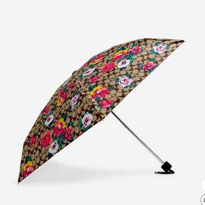 Coach Mini Umbrella Signature Vintage Rose Print